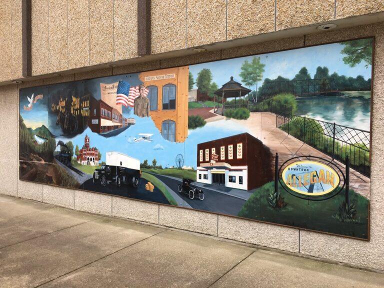 Image of mural in downtown Allegan