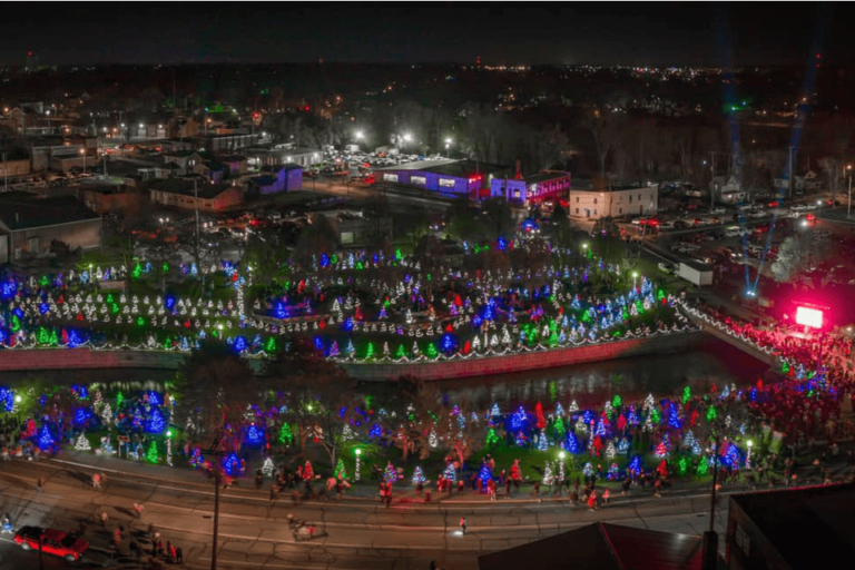 Image of Comstock Park during Christmas time