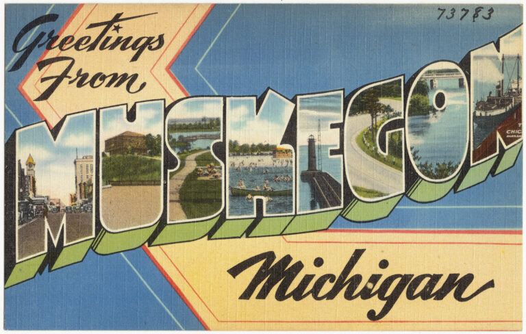Image of post card from muskegon mi
