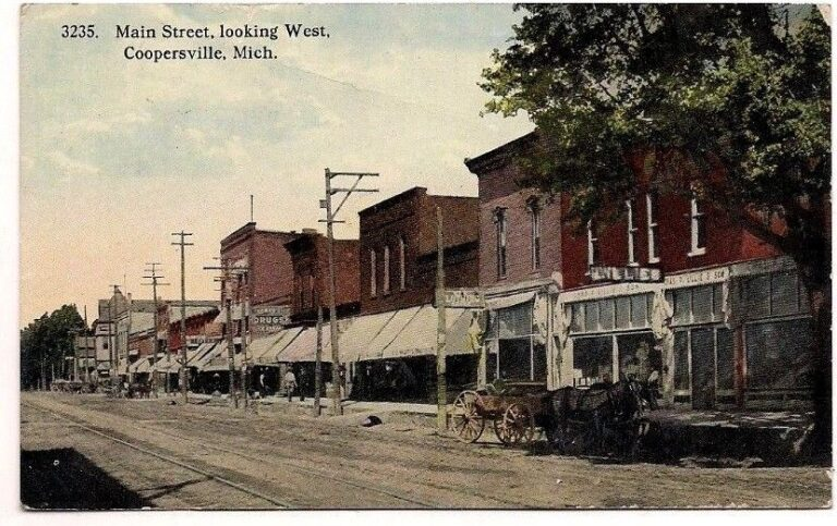 Image of historic downtown Coopersville Michigan