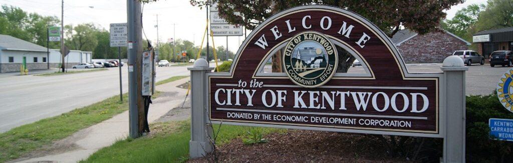 Photo of Kentwood MI entrance sign