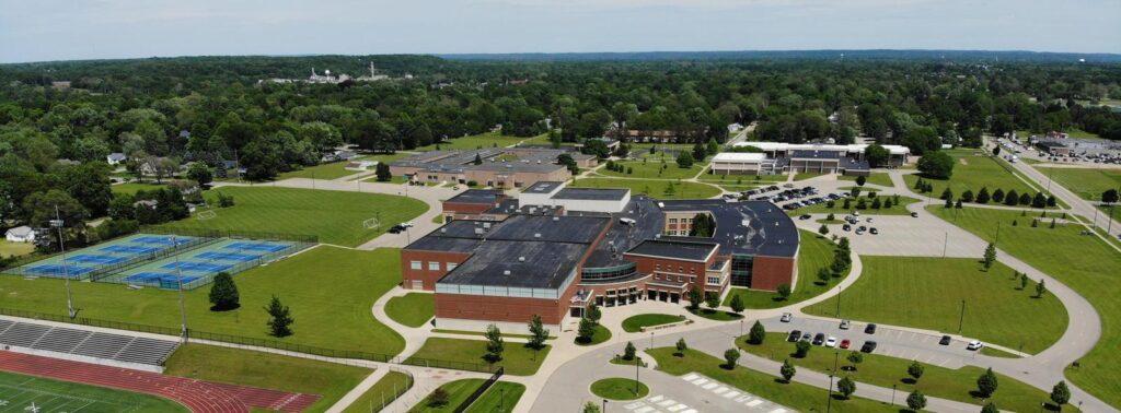 Ariel view of Otsego Michigan high school
