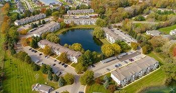 Airel view of Cutlerville MI homes
