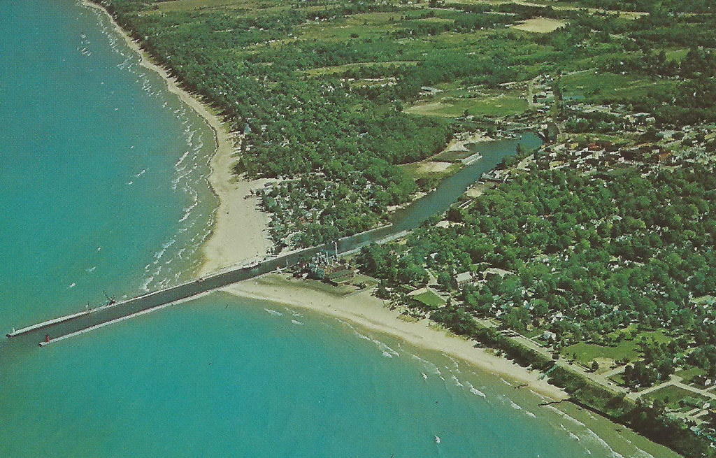 Ariel view of South Haven during the 1960s