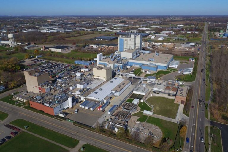 Photo of industrial plant in Zeeland Michigan
