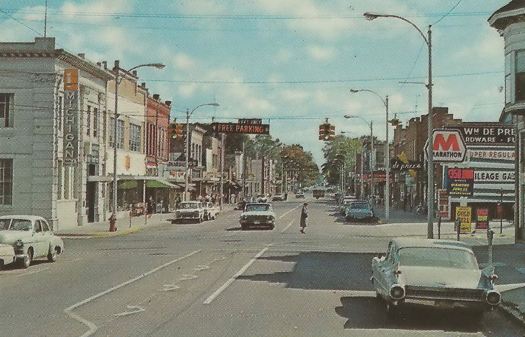 Image of zeeland mi downtown in the 1950s